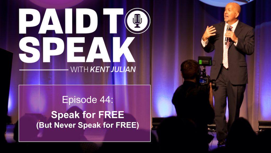 Speak for Free, but Never Speak for Free
